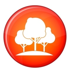 Forest trees icon flat style vector