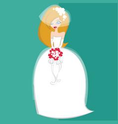 Girls in bride costume no1 vector