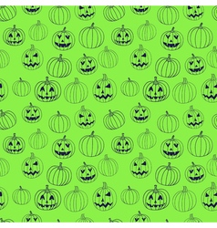 Green halloween print seamless pattern with vector