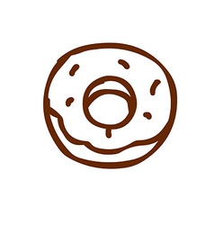 Hand Drawn Donut vector image vector image
