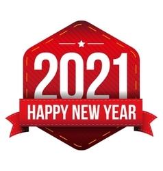 Happy New Year 2021 vector image