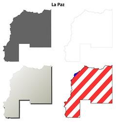 La paz county arizona outline map set vector