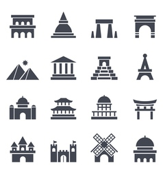 Landmark Icon vector image vector image