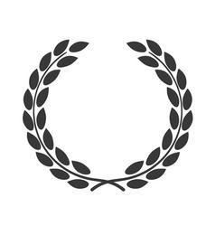 laurel wreath symbol achievement vector image vector image