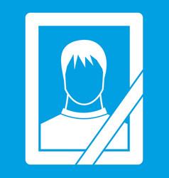 Memory portrait icon white vector