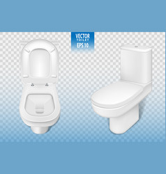 realistic toilet mockup closeup white modern vector image vector image