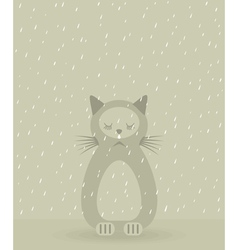Sad cat vector image vector image