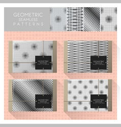 Set of geometric seamless pattern 5 vector