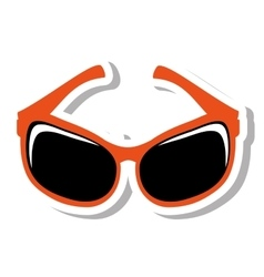 Sunglasses modern style isolated icon vector