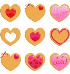 valentine cookies vector image vector image