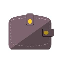 wallet save money flat icon vector image vector image