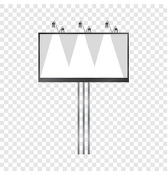 White blank billboard mockup realistic style vector