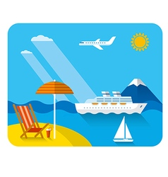 Sea and beach resort vector
