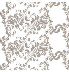 Vintage spring floral damask pattern element vector