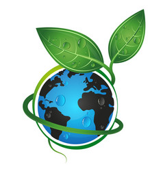 Earth green eco concept vector