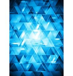 Vibrant blue hi-tech design vector image