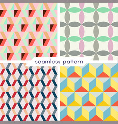 Set of four seamless geometrical patterns 7 vector