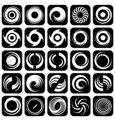 rotation design elements vector image