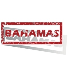 Bahamas outlined stamp vector