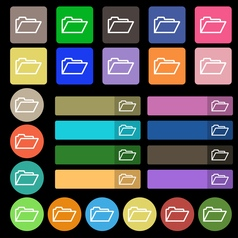 Folder icon sign set from twenty seven vector