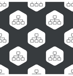 Black hexagon scheme pattern vector