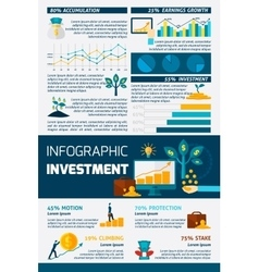Investment flat color infographic vector