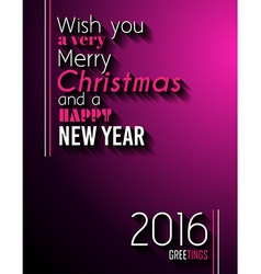 2016 happy new year and merry christmas background vector