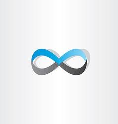 blue black infinity logo sign element vector image