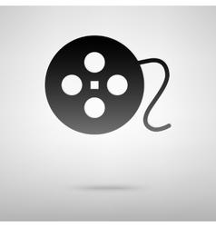 Cinema sign black icon vector