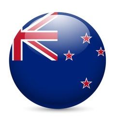 Round glossy icon of new zealand vector image
