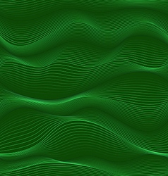 Green waves seamless texture vector