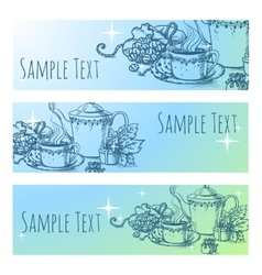 Beautiful vintage banner with tea vector