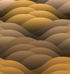 Warm abstract color waves vector