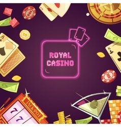 Royal casino retro cartoon vector