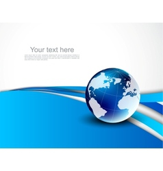 Abstract background with globe vector image vector image
