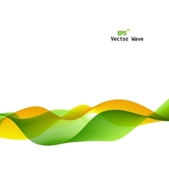 Abstract Green and Yellow Wave on Background vector image