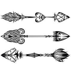 Arrow set vector image