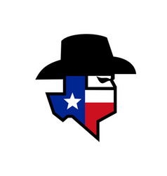 Bandit texas flag icon vector