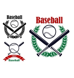 Baseball sporting emblems vector image