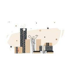 Big pile of handmade gifts vector image