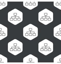 Black hexagon scheme pattern vector