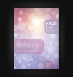 Brochure design template with bokeh backgrounds vector