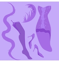 burlesque retro look vector image