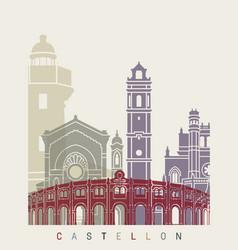 Castellon skyline poster vector