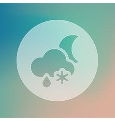 Cloud snow rain moon transparent icon weather vector