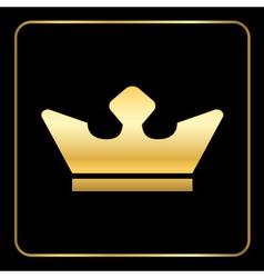 Croun gold icon black vector