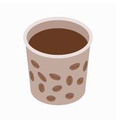 Cup of coffee icon isometric 3d style vector image vector image