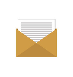 email envelope message social network graphic flat vector image