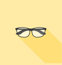 eyeglasses nerd and geek icon vector image