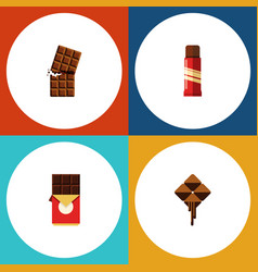 flat icon sweet set of delicious wrapper sweet vector image vector image